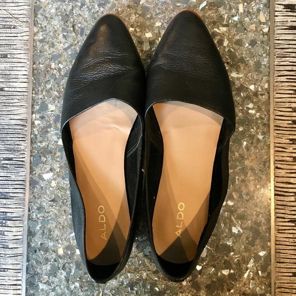 936b909a251 Aldo Shoes - ALDO WOMENS BLANCHETTE BLACK LEATHER LOAFER 8